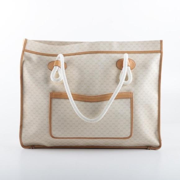 598f3cd1e31 Gucci Handbags - AUTHENTIC VINTAGE GUCCI TOTE BAG. XLARGE CREAM.